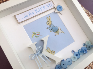 Personalised Peter Rabbit Initial Box Frame